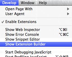 Safari Show Extension Builder